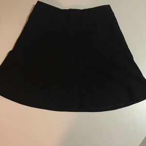 Jcrew black lined a-line skirt with zip